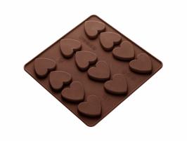 12 HEARTS CHOCOLATE MOLD