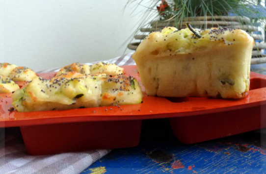 Plumcake provola e zucchine