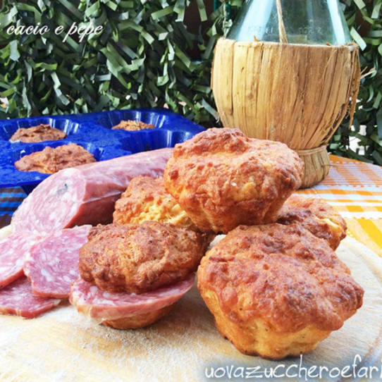 Muffin cacio e pepe